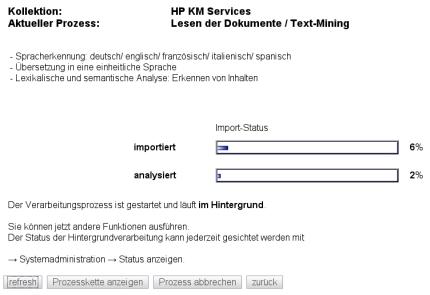 Lesen der Dokumente / Text-Mining