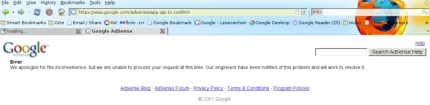 Stupid Google-Adsense Error